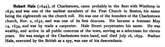 Hale, Robert 1644 Massachusetts