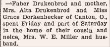 Druckenbrods visit Greene