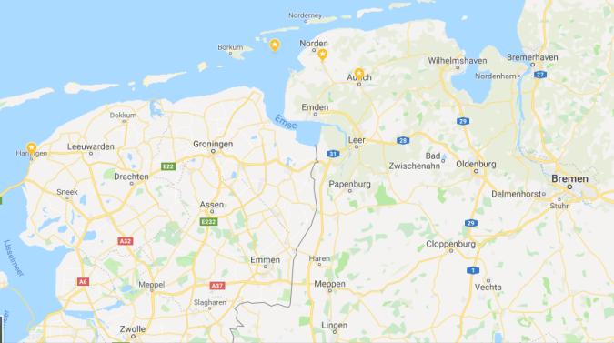Map German homes
