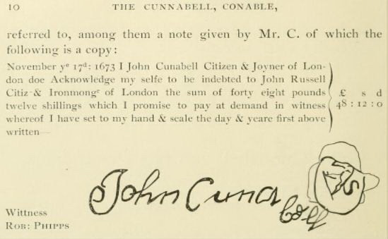 Connable, John signature
