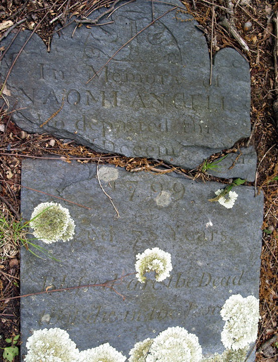 Naomi Smith Angell headstone at Hope Angell Lot
