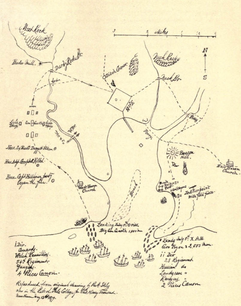 Map of Hew Haven invasion