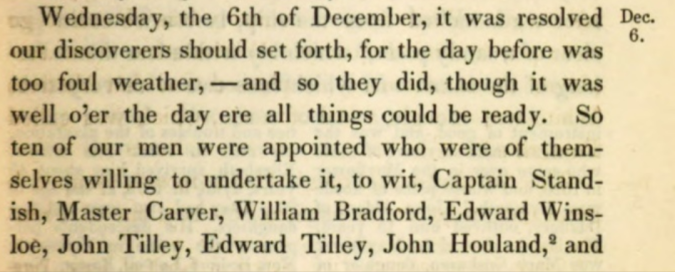 Tilley, John 1620 Mayflower exploring party