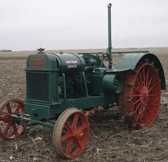 1929 Hart Carr tractor in full color