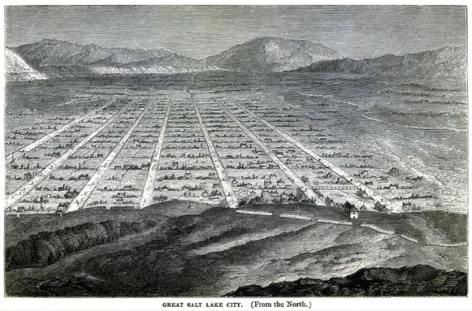 A sketch of Salt Lake city in 1860