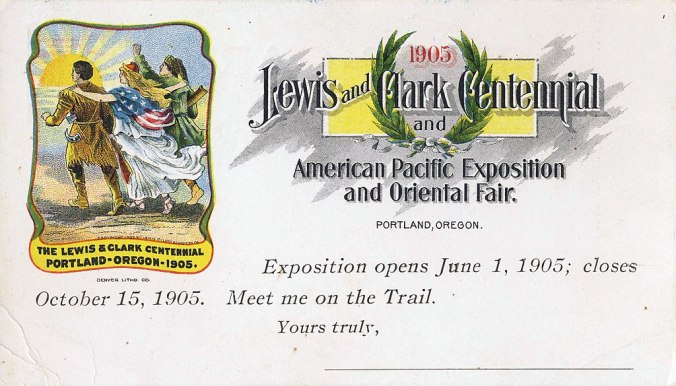 Lewis and Clark expo 1905