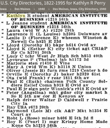 1940 Des Moines, Iowa