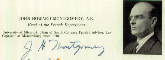 1939 yearbook photo with autograph