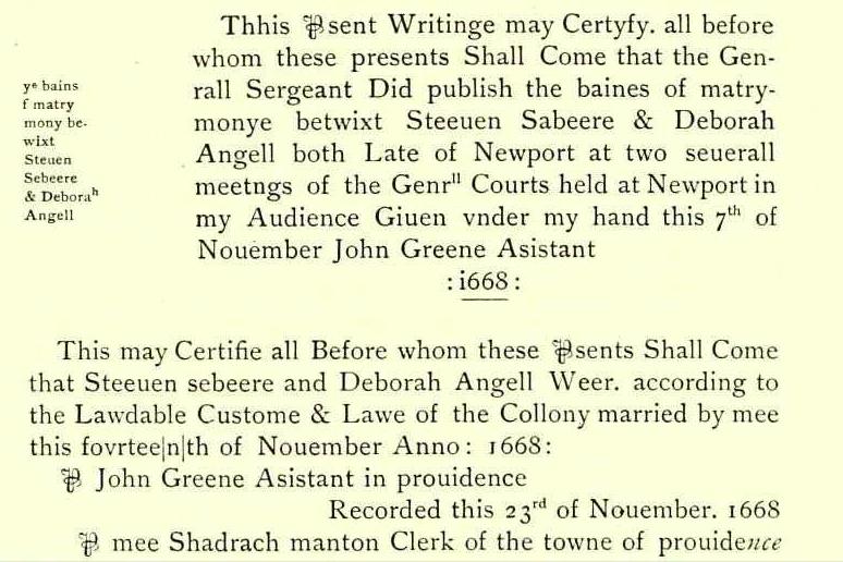Angell, Deborah marriage