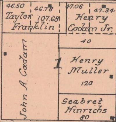 Henrichs, Seibelt 1917 land