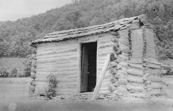 Original 1790s log house